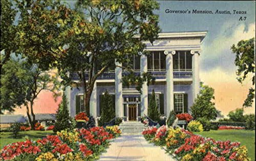 Governor's Mansion Austin, Texas Original Vintage Postcard