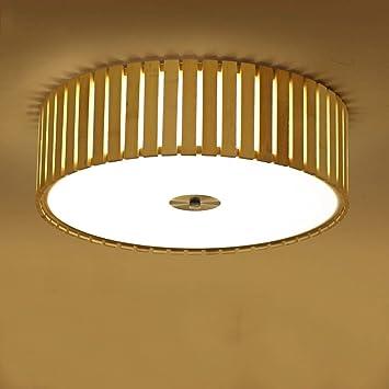 FEI Luz de Techo de bambú Simple Luz de la habitación ...