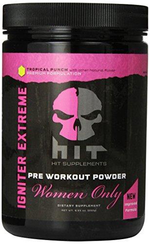 HIT suppléments allumeur Extreme pré Supplément d'entraînement pour les femmes, Tropical Punch, 30 Servant