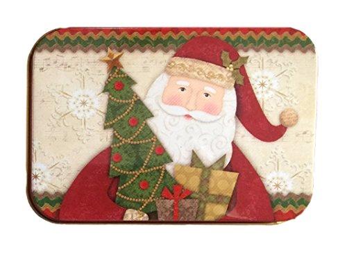 Christmas gift card holders tin box santa reindeer and