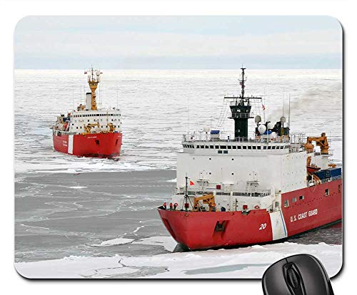 Mouse Pads - Ice Breakers Ships Winter Ocean Ice Water Arctic