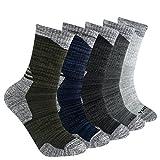 YUEDGE 5 Pairs Men's Cushion Crew Socks Outdoor Recreation...
