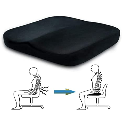 Cojín ortopédico de espuma viscoelástica, portátil, cómodo ...