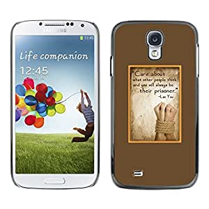Plastic Shell Protective Case Cover || Samsung Galaxy S4 I9500 || Parchment Abuse Sad @XPTECH