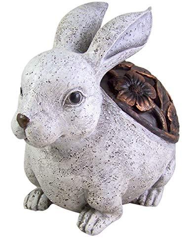 Decorative Cast Resin Bunny Rabbit LED Light Garden Statue, 7 1/2 Inches ()