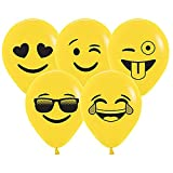 5 Inch Emoji Assortment Latex Balloons, Pack of 100 by Betallic by Betallic