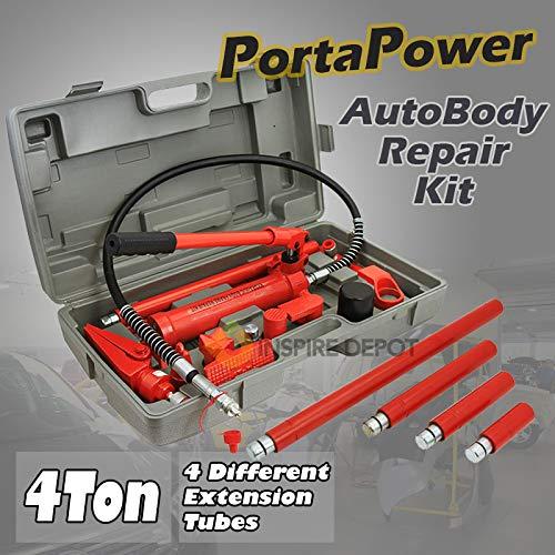 - XtremepowerUS Hydraulic Porta Power Auto Body Frame Repair Kit (10 Ton or 4 Ton)