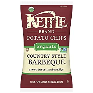 Kettle Brand Organic Potato Chips, Country Style Barbeque, 5 Ounce (Pack of 15)