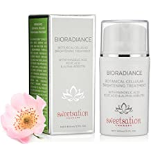 BioRadiance Botanical Cellular Brightening Treatment with Mandelic acid, Kojic acid & Alpha-Arbutin, 2oz