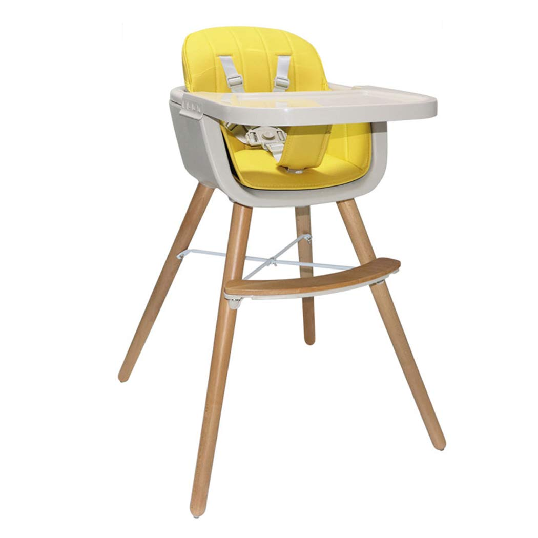 Wood High Chair Baby 3 in 1 Convertible Highchair Solution with Cushion Infant Adjustable Chair by Amazing Closet