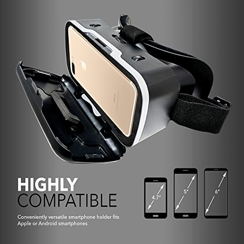 3D VR Headset for iPhone and Android - Universal 360 Virtual Reality Goggles with Blue Blocking Lenses, Touch Button, and Adjustable Strap to Fit Kids, Teens, and Adults - by Imagistra by Imagistra (Image #3)