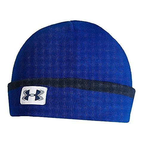 Under Armour Men's ColdGear Infrared Cuff Sideline Beanie, Royal (400), One (Cappuccio Foderato Hat)