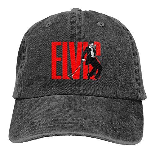 Hat for Men Women, Elvis Presley Twill Adjustable Baseball Cap Breathable Sun Hats -