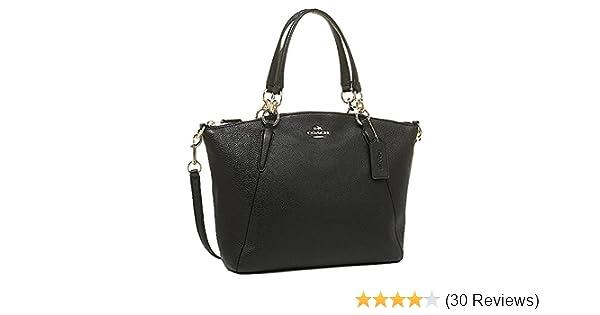 b84c4cd6c6 Coach 36625 Pebble Leather Small Kelsey Satchel Black  Handbags  Amazon.com