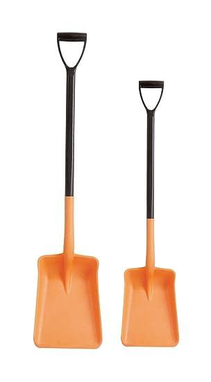 Orange Harold Moore Plastic Shovel Lightweight Plastic D handle
