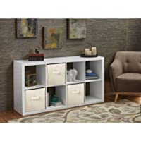 Horizontal or vertical 8 Cube Multiple Storage Organizer in High Gloss White Lacquer