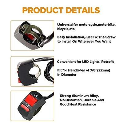 BLIAUTO Handlebar Switch, Motorcycle Headlight Switch, for U5 U7 U2 Motorcycles Scooter Electrombile Motorbike-7/8inch 22mm: Automotive