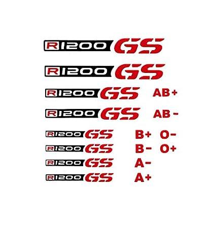 R1200GS Logotipos y Tipos de Sangre Negro-Rojo