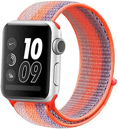 Watch Strap 38mm 40mm 42mm 44mm,Breathable Soft Replacement Wristband for iWatch Series 4 3 2 1,Nike+