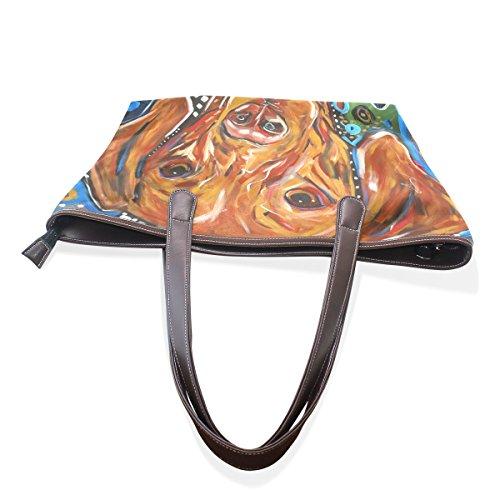 COOSUN , Damen Tote-Tasche muticolour L(33x45x13)cm