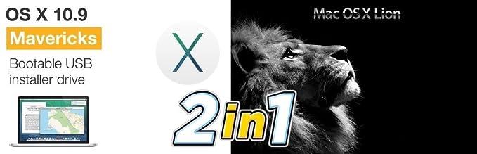 2 in 1 Mac OS X Mavericks 10 9 + Mac OS X 10 7 Lion Bootable
