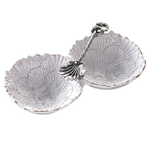 Shell Pie Server - Mud Pie Embossed Shell Section Server Set With Spoon 4171021