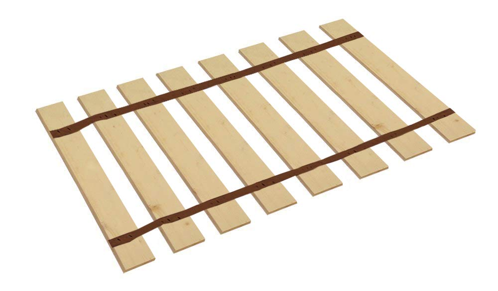 The Furniture Cove Twin Size Bed Slats Boards Wood Foundation Brown Strapping-Help Support Your Box Spring Mattress-Made in the U.S.A.! (39.75'' Wide)