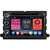 Autosion In Dash Android 6.0 Car DVD Player Sat Nav Radio Headunit Navigation Stereo for Ford F-150 F-250 F-350 Fusion Explorer Edge Expedition Taurus Support Bluetooth SD USB Radio OBD WIFI DVR 1080P
