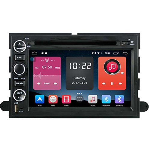 Autosion In Dash Android 6.0 Car DVD Player Sat Nav Radio Headunit Navigation Stereo for Ford F-150 F-250 F-350 Fusion Explorer Edge Expedition Taurus Support Bluetooth SD USB Radio OBD WIFI DVR 1080P by Autosion