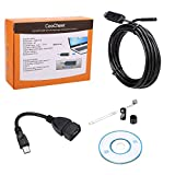 COOCHEER 2Million Pixels 6 LED USB Waterproof Borescope Endoscope Inspection Tube Camera (8MM--5M)
