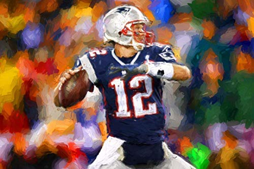 Tom Brady Painting - Tom Brady Poster - New England Patriots Canvas - Available in PRINT or CANVAS