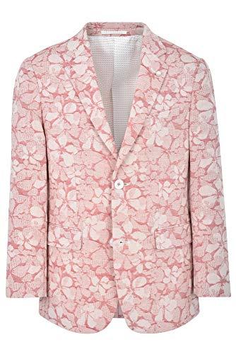 JAMES MORGAN Boys Formal Blazer with Woven Pink Ivory Flower Pattern, Salmon/White, 18