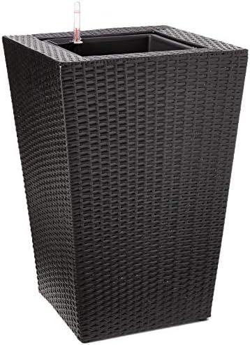 DMC Products 24-Inch Square Resin Wicker Vista Planter