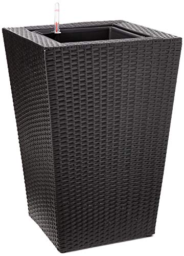 DMC Products 24-Inch Square Resin Wicker Vista Planter from DMC Products