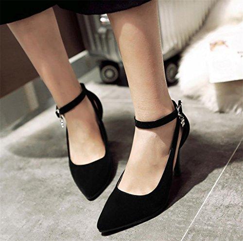 Dames Chaussures Verni Tribunal Femmes De Parti Talon Mariage PompesBonne En Cuir Qualité Mnii Noir Mode oxdCBe