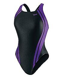 SPEEDO Quantum Splice Female Super Proback,Black/Purple,24