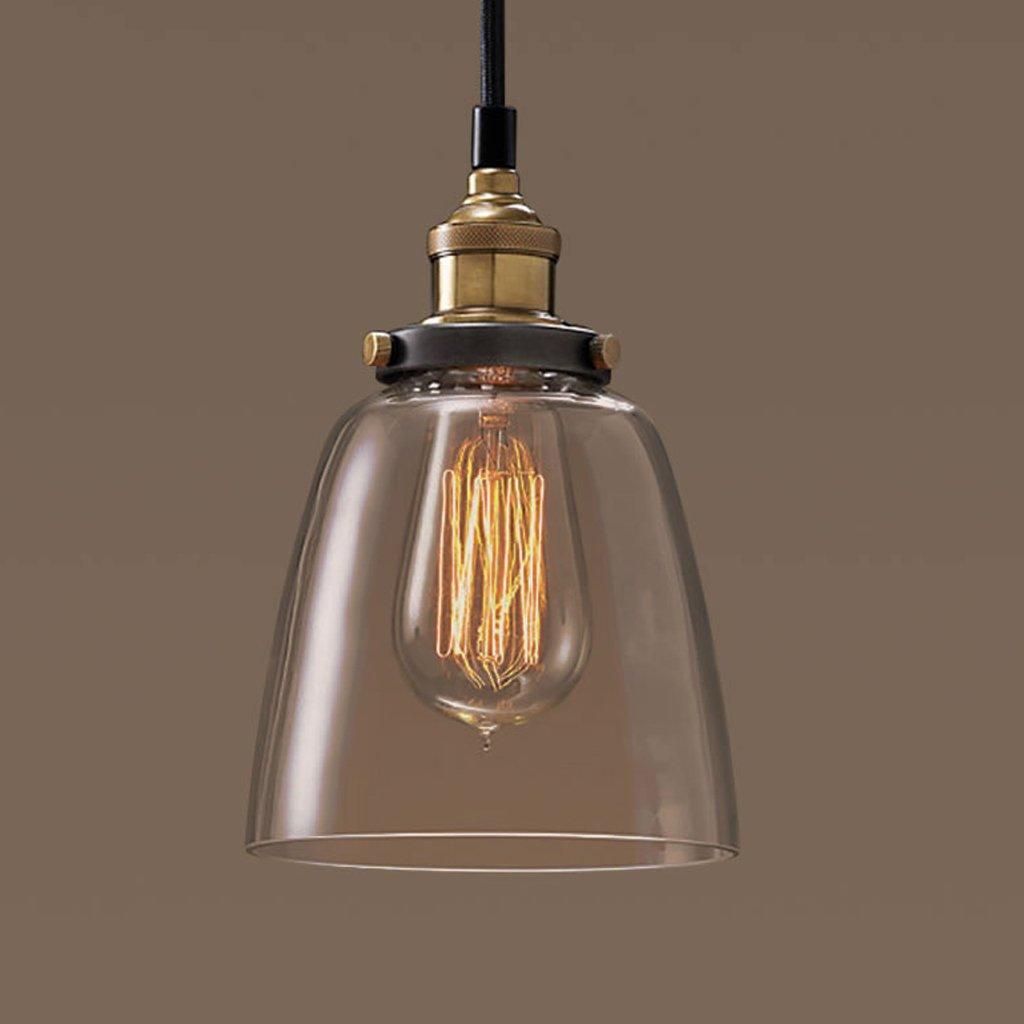 Amerikanische Dorf Einfache Retro-Lampen Wohnzimmer Esszimmer Schlafzimmer Gehweg Industrie retro Kronleuchter Glas