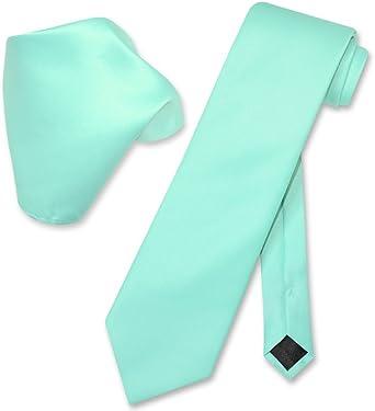 Caribbean aqua blue green necktie Linen look wrinkle resistant aqua tie