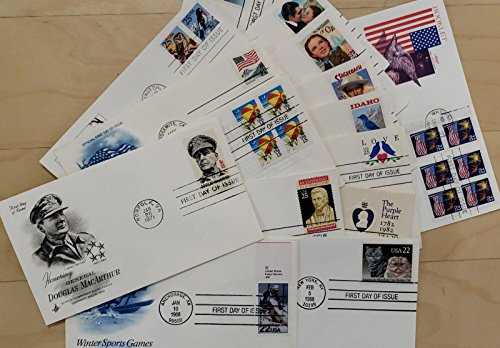 STAMP COLLECTORS! Nice Lot of 15 US First Day Covers - Each Packet is different! (Reference Picture only)