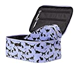 Kate Spade New York Daycation Large Colin Travel Cosmetic Case Cat Print Lavender/Black