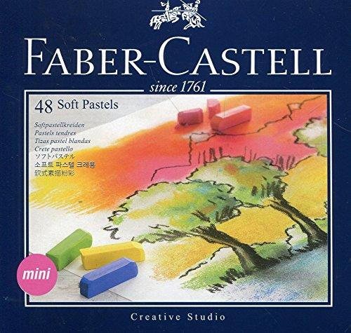 Faber-Castel FC128248 Creative Studio Soft Pastel Crayons (48 Pack), Assorted