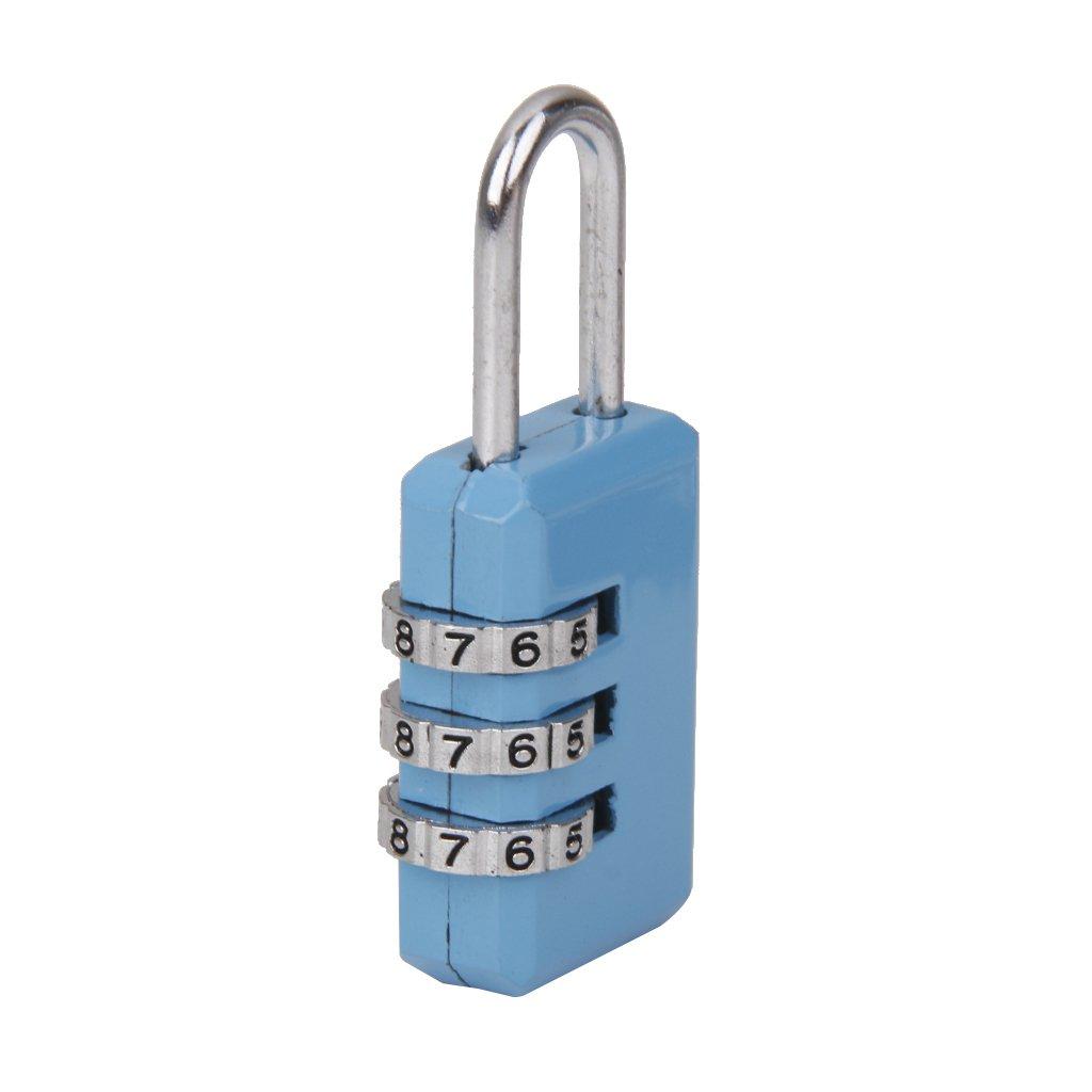 Cadenas Serrure /à Combinaison /à 3 Chiffres Serrure /à Code de Bagage Bleu