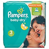 Pampers Baby-Dry Nappies Monthly Saving Pack - Size 3(5-9KG), Pack of 198