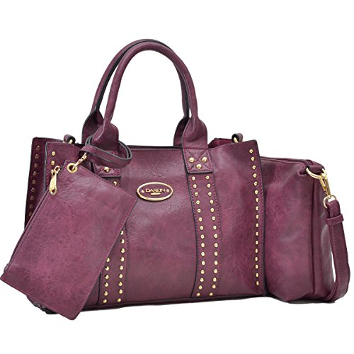Women Vegan Leather Handbags Fashion Satchel Bags Shoulder Purses Top Handle Work Bags