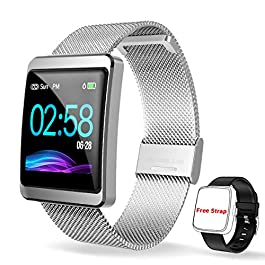 CanMixs Smart Watch, Fitness Tracker CM11 Smart Bracelet Fitness Sport Watch with Heart Rate Monitor SMS&SNS Reminder…
