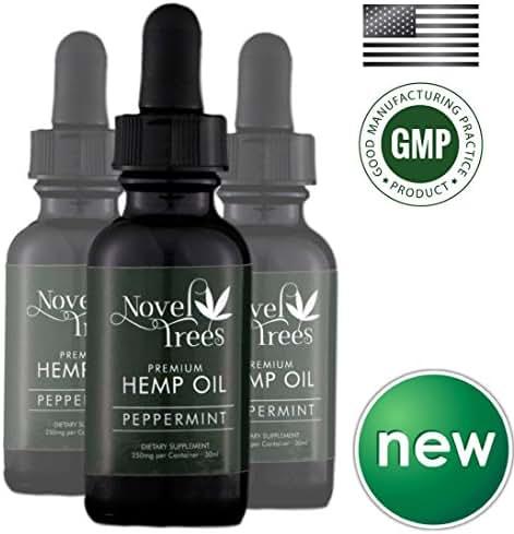 New Premium Hemp Seed Oil – 100% Organic, Pure, Vegan – Best Full Spectrum Supplement Tincture for Healthy Women & Men – Helps Skin, Hair, Chronic Pain & More (Natural Peppermint, 250mg)