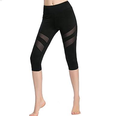 1357e1c4cf02 Lookatool Athletic Pants, Women Skinny Patchwork Mesh Yoga Leggings ...