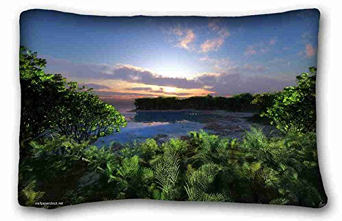 Mattress Pebble Twin - Custom Characteristic ( Nature Beaches Pebble beach ) Pillow Covers Bedding Accessories Size 20