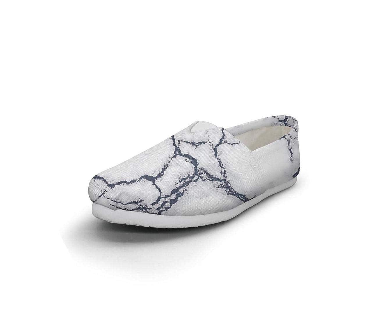 nkfbx Marble Fashion Flat Sneakers for Women Dancing