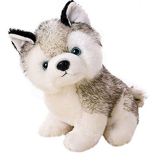 Amazon Com Gloveleya Realistic Husky Stuffed Dog Puppy Dolls Animal